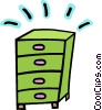 dresser, chest of drawers Vector Clipart illustration