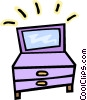Vector Clip Art image  of a dresser drawers