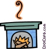 Vector Clipart illustration  of a fire place