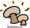 Vector Clipart graphic  of a Two mushrooms