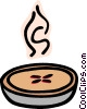 Vector Clipart illustration  of a Steaming hot pie