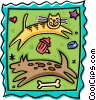 dog and cat design Vector Clipart picture