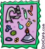 science montage Vector Clip Art picture
