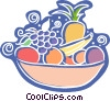Bowl of fresh fruit Vector Clip Art picture