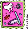 Vector Clipart illustration  of a dental montage