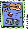 Assorted musical instruments Vector Clipart illustration