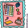 Vector Clipart graphic  of a party favors