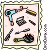 Vector Clip Art image  of a beauty supplies