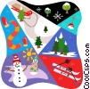 Winter activities Vector Clipart illustration