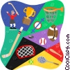 Vector Clip Art image  of a sports equipment