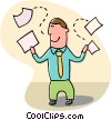 Vector Clipart graphic  of a man with paperwork