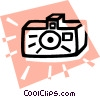 Vector Clip Art image  of a camera