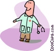 Vector Clipart picture  of a doctors