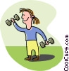weight lifter Vector Clipart image