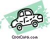 Vector Clip Art graphic  of a car; automobile