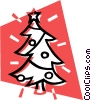 Vector Clip Art graphic  of a Christmas tree