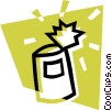 Vector Clipart image  of a canned goods