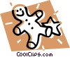 Vector Clipart graphic  of a gingerbread cookies