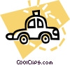 Vector Clipart graphic  of a police car