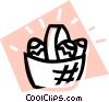 Vector Clipart illustration  of a Easter egg basket