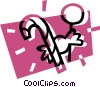 Vector Clipart picture  of a Christmas candy cane