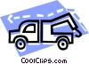 Vector Clip Art image  of a toe truck