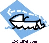 Vector Clipart graphic  of a jet ski