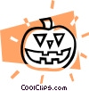 Vector Clip Art picture  of a Halloween jack-o-lantern