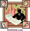 Project Management Vector Clipart illustration