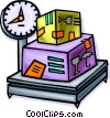 Vector Clip Art graphic  of a Crates