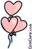 Vector Clip Art graphic  of a valentines day balloons