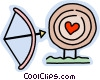 valentines day target Vector Clipart picture