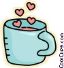 Vector Clipart picture  of a valentines coffee