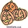 Vector Clipart illustration  of a jack o lanterns