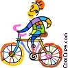 bicycle rider Vector Clipart graphic