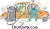 Vector Clipart picture  of a Petroleum and Gasoline