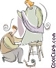 Vector Clip Art graphic  of a tailor