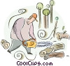 Vector Clip Art picture  of a Forestry and Logging