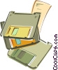 Vector Clipart graphic  of a Floppy disks