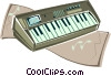Vector Clip Art image  of a Electronic synthesizer