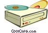 Cd drive Vector Clipart illustration