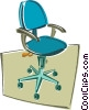 office chair Vector Clipart illustration