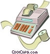 electronic adding machine Vector Clipart illustration