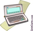 Vector Clip Art graphic  of a personal organizer