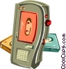 Vector Clip Art image  of a Tape recorder