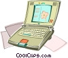 Notebook computer Vector Clipart picture