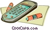 Vector Clipart picture  of a Remote control