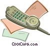 Vector Clipart picture  of a Cordless telephone