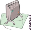 Vector Clip Art picture  of a Portable heater