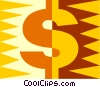 dollar sign symbol Vector Clipart illustration